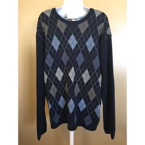 Axcess size XL blue and gray sweater